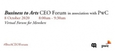 2020 Business to Arts CEO Forum in association with PwC