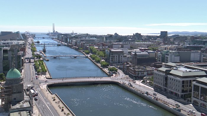 River Liffey and Dublin Docklands from Liberty Hall