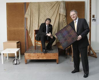 L - R. Stuart McLaughlin - Business to Arts and Brendan Murphy - Allianz at the Royal Hibernian Academy