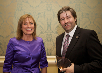 Mary Kennedy and Stuart McLaughlin at the National Fundraising Awards (Robbie Fry Photography)