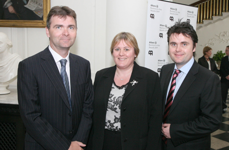 Robin McNaughton, Michele McNaughton and Gerard McNaughton of TileStyle at the 2009 Allianz Business to Arts Awards in Castletown House.