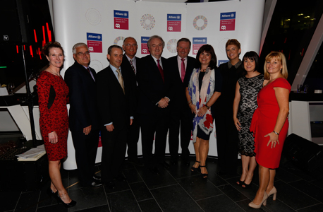 The Allianz Community Art Prize Jury Panel at the 2013 Allianz Business to Arts Awards at Bord Gáis Energy Theatre