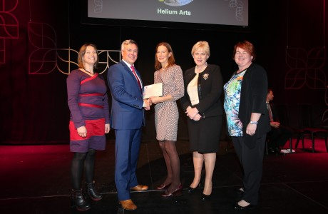 2016 Winner - Helium Arts and members of the 'Early Years Project' team with Sean McGrath, CEO, Allianz Ireland and Minister Heather Humphreys TD