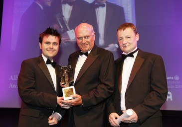At the Allianz Business to Arts Awards 2008, Graham Wilkinson of Behaviour & Attitudes and XXXX of Graphic Studio Dublin accepted the Jim McNaughton Perpetual Award for Best Commissioning Practice from Gerard McNaughton of TileStyle