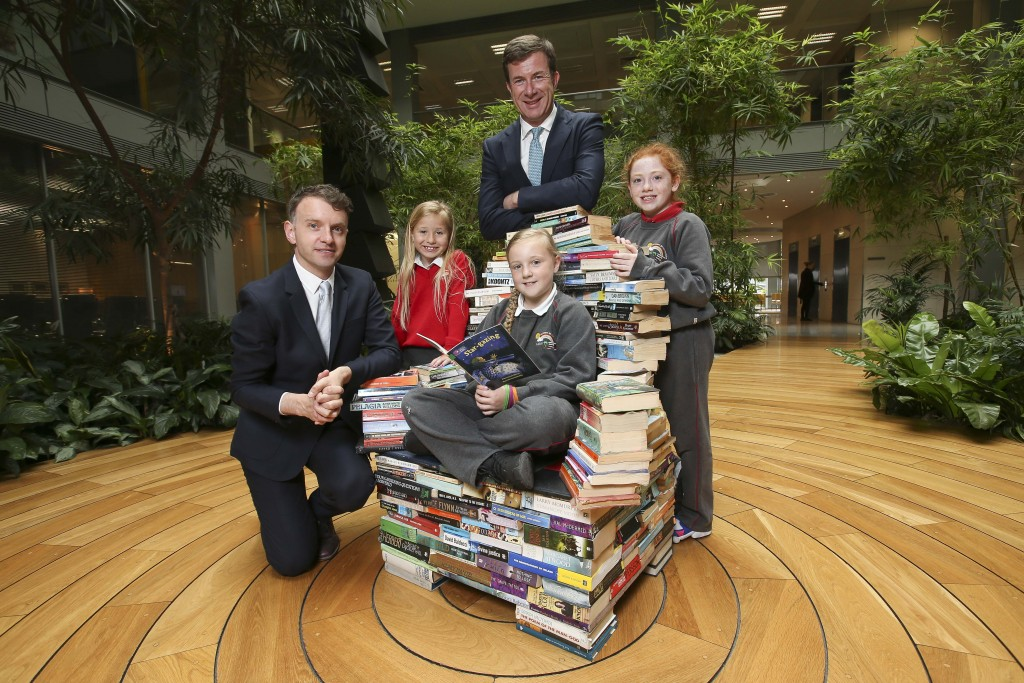 *** NO REPRODUCTION FEE *** DUBLIN : 8/6/2016 : BUSINESS TO ARTS AND A&L GOODBODY ANNOUNCE UNIQUE NEW PARTNERSHIP. Pictured at the announcement were Andrew Hetherington, Chief Executive of Business to Arts and Julian Yarr, Managing Partner at A&L Goodbody with pupils from St. Joseph's Co Ed Primary School, Dublin 3 Cerys Duff (age 7), Heather McNeary (age 9) and Ruby Lawless (age 10). Business to Arts and leading corporate law firm, A&L Goodbody have today launched a unique, new Writer in Residence programme under the Docklands Arts Fund which will see a writer work with children at St. Joseph's Co-Ed Primary School in East Wall to develop their creativity and literacy skills. The Writer in Residence role will include working with pupils at St. Joseph's, participating in literacy workshops with the children and supporting Business to Arts' wider civic programme of promoting the Arts collaboratively through businesses and communities. The exciting venture marks the first time that a business in Ireland has engaged a Writer in Residence programme with Business to Arts and Dublin City Council. As part of the partnership, A&L Goodbody will also provide funding for the programme worth €30,000 over a three year period. The first stage of this partnership is to seek and appoint the Writer in Residence. The successful candidate will have a passion for education, enjoy working with children and be able to demonstrate literary flair. Talented professional writers can find more information and learn about the application process on the Business to Arts website www.businesstoarts.ie/artsfund Picture Conor McCabe Photography. MEDIA CONTACT : Helen Carroll, Business to Arts, E: helen@businesstoarts.ie T: 01 662 9238