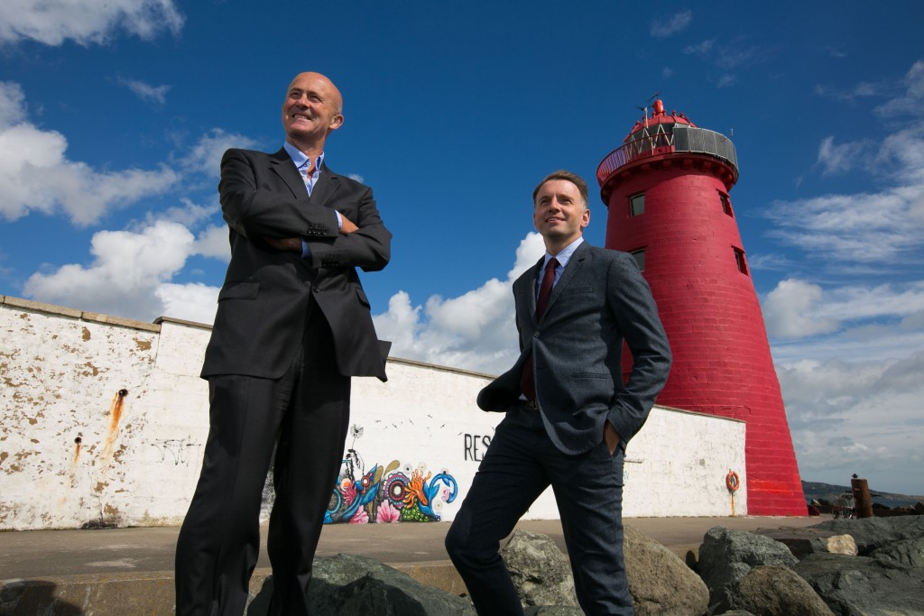 Eamonn O'Reilly, CEO, Dublin Port Company & Andrew Hetherington at Poolbeg Lighthouse announcing the launch of Port Perspectives. Picture by Shane O'Neill Photography.