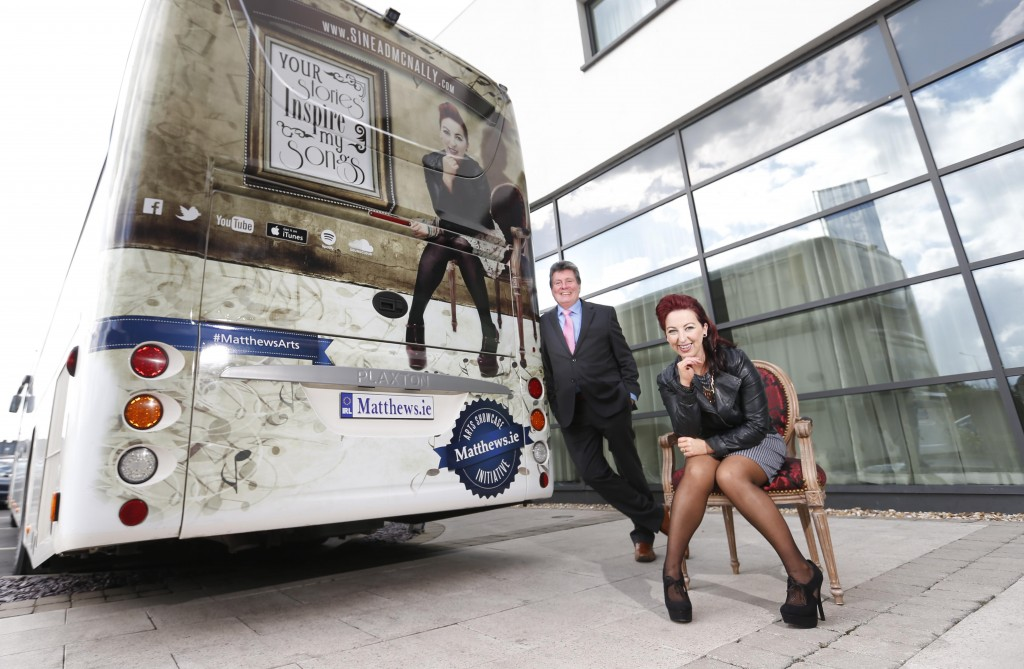 Managing director of Matthews Coach Hire Paddy Matthews with singer/songwriter Sinead McNally