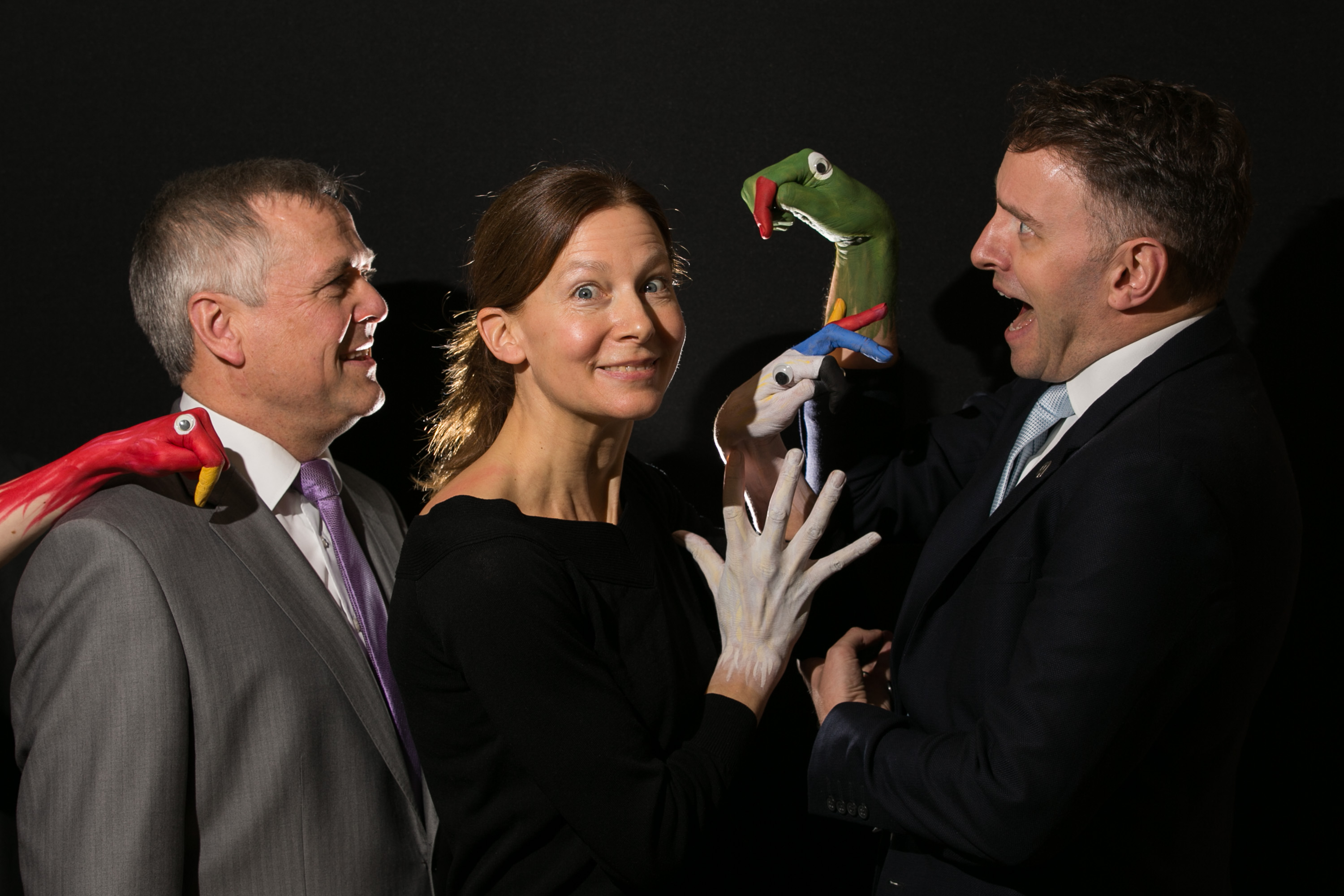 Sean McGrath, CEO, Allianz Ireland, Helene Hugel, Artistic Director, Helium Arts & Andrew Hetherington, CEO, Business to Arts at the launch of the 2017 Allianz Business to Arts Awards. Picture by Shane O'Neill Photography