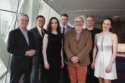 John McGrane, Justin Bickle, Tamara Rojo, Andrew Hetherington, Stephen Faloon, Michael Seaver, Helen Carroll at Bord Gáis Energy Theatre Picture Conor McCabe Photography