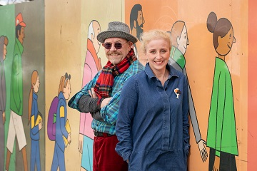 TG4 - Creative Company Photocall Pictured: Mentors/Artists Liam De Frinse and Br'd Higgins N' ChinnŽide Date: 07/03/2019 Photographer: 1IMAGE/Bryan Brophy   1IMAGE PHOTOGRAPHY Studio: +353 1 493 9947 Mob: +353 87 246 9221 (Bryan) 1image.ie eventimage.ie Copyright: 1IMAGE Photography/Bryan Brophy© All Rights Reserved