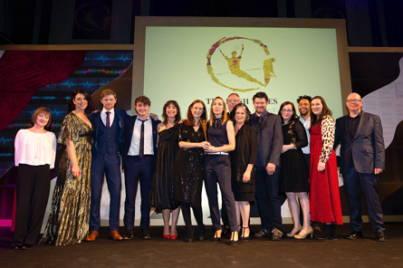 Best Ensemble Winner Rough Magic at the Irish Times Irish Theatre Awards in association with TileStlye